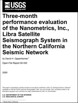 USGS Open-File Report 00-330: Three-Month Performance Evaluation of