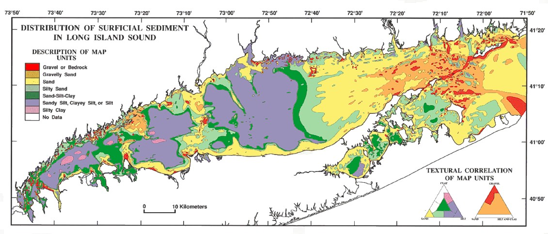 Topographic Map Long Island.Long Island Sound Resource And Use Inventory