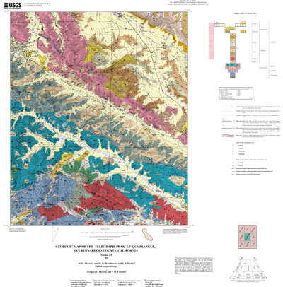 Usgs Geologic Maps USGS Open File Report 01 293: Geologic map of the Telegraph Peak