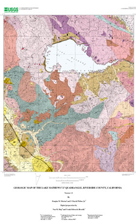 USGS OpenFile Report 01479 Geologic Map of the Lake Mathews 75