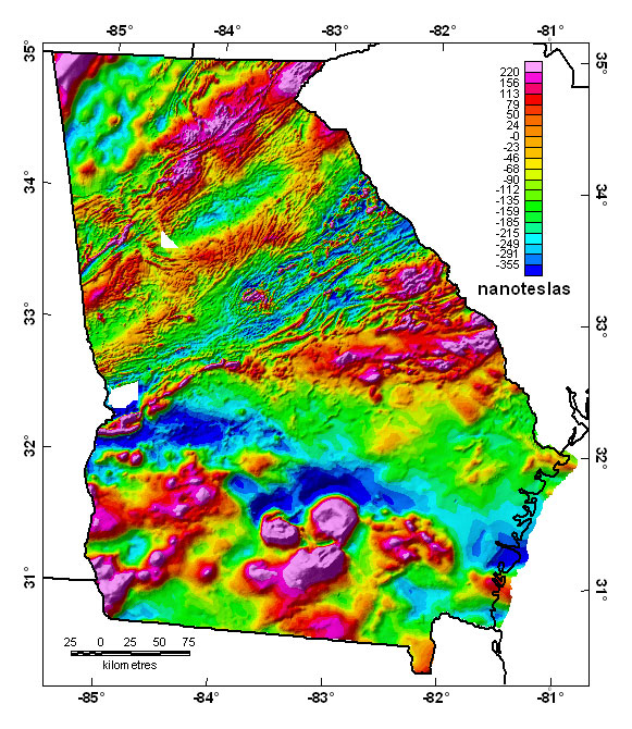 Geologic Map Of Georgia.Georgia Aeromagnetic And Gravity Maps And Data