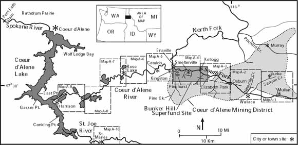 Index map showing study areas