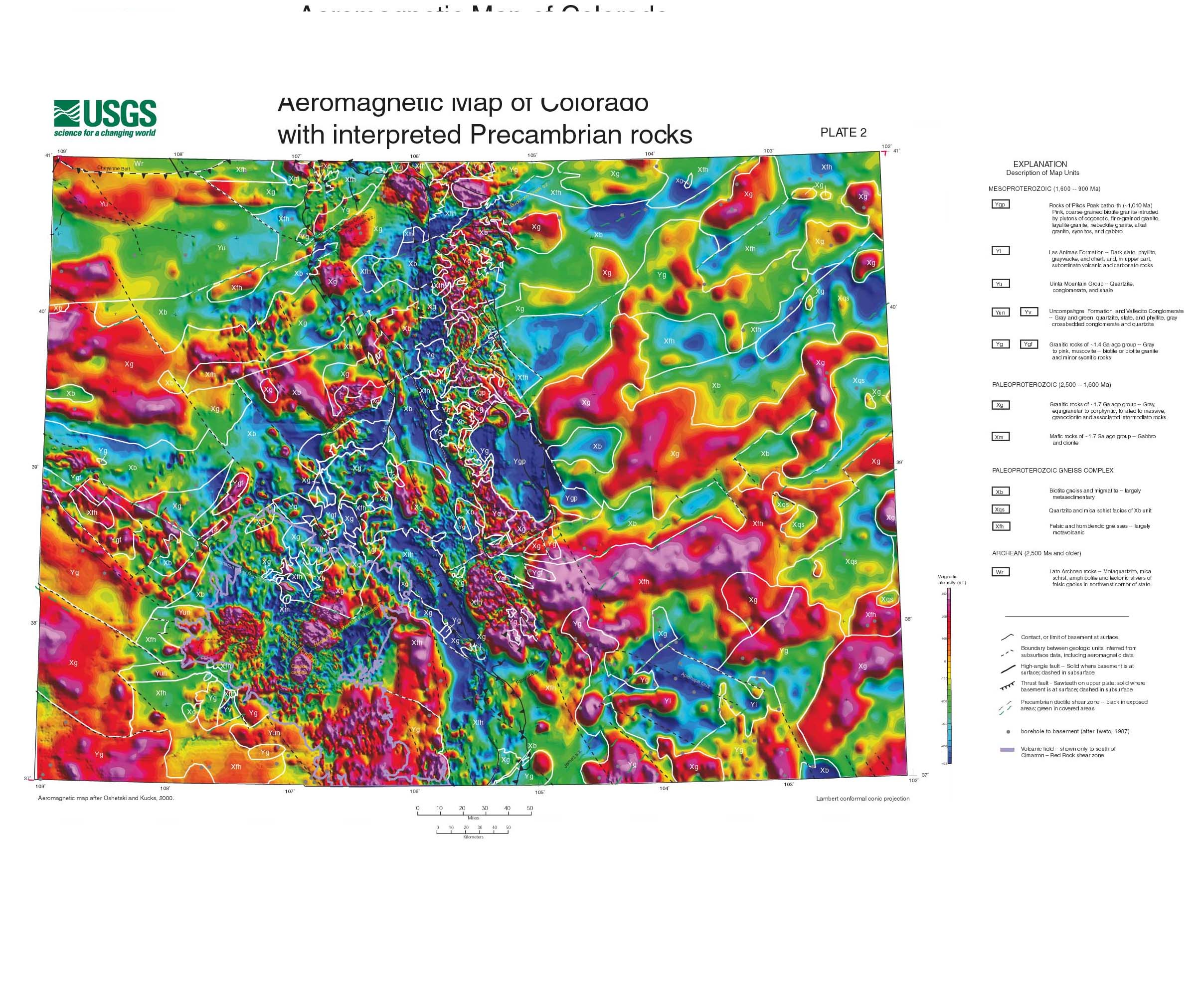 Preliminary Precambrian Basement Map Of Coloradohtml - Map or colorado