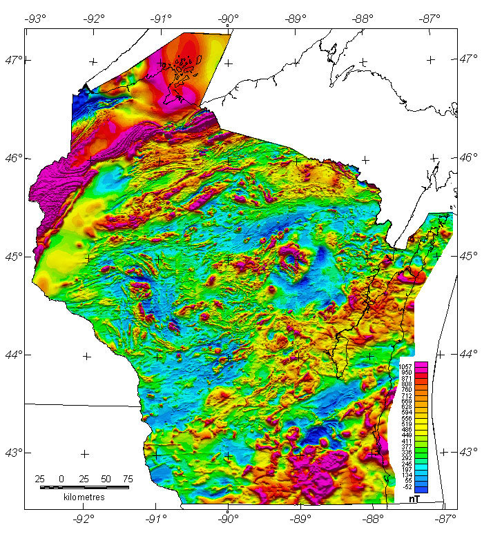 Wisconsin Aeromagnetic And Gravity Maps And Data
