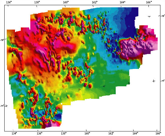 Skelton Neve, Antarctica aeromagnetic anomaly map (reduced size)