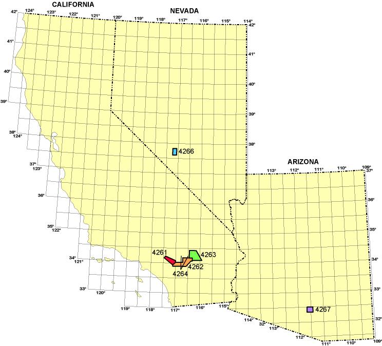 Map Of Ca And Nv Tidal Treasures - Nv map