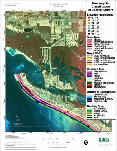 Map Of Fort Myers Beach Florida.Fort Myers Beach Nw Ne Coastal Classification Atlas Southwestern