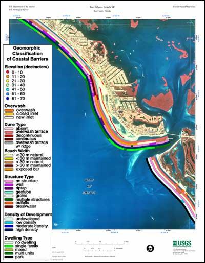 Fort Myers Beach SE Coastal Classification Atlas Southwestern - Venice beach florida map