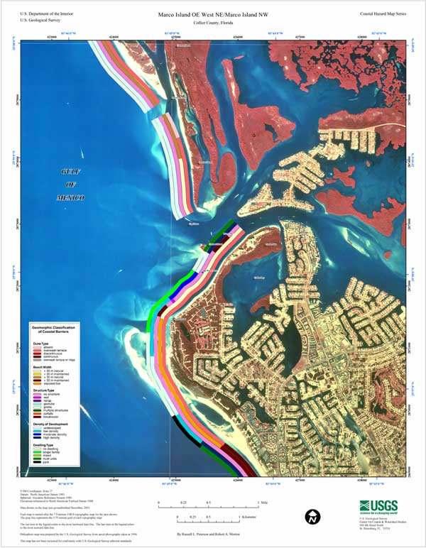 Marco Island OE W NEMarco Island NW Coastal Classification - 8 1 2 x 11 us map