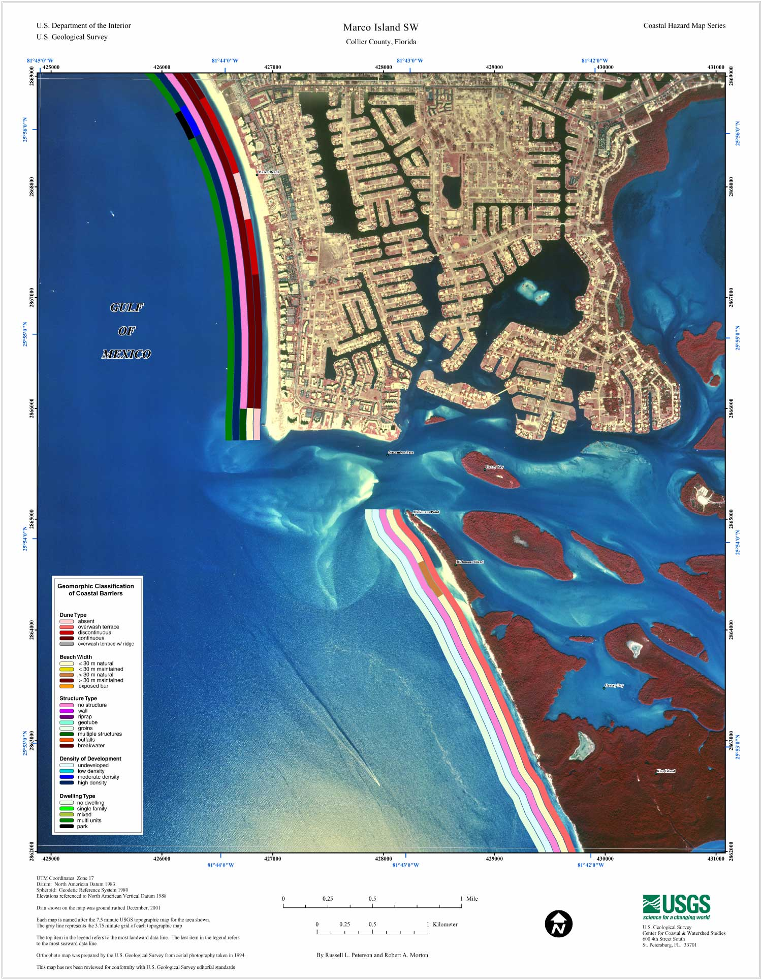 Marco Island SW Coastal Classification Atlas Southwestern - Florida map showing marco island