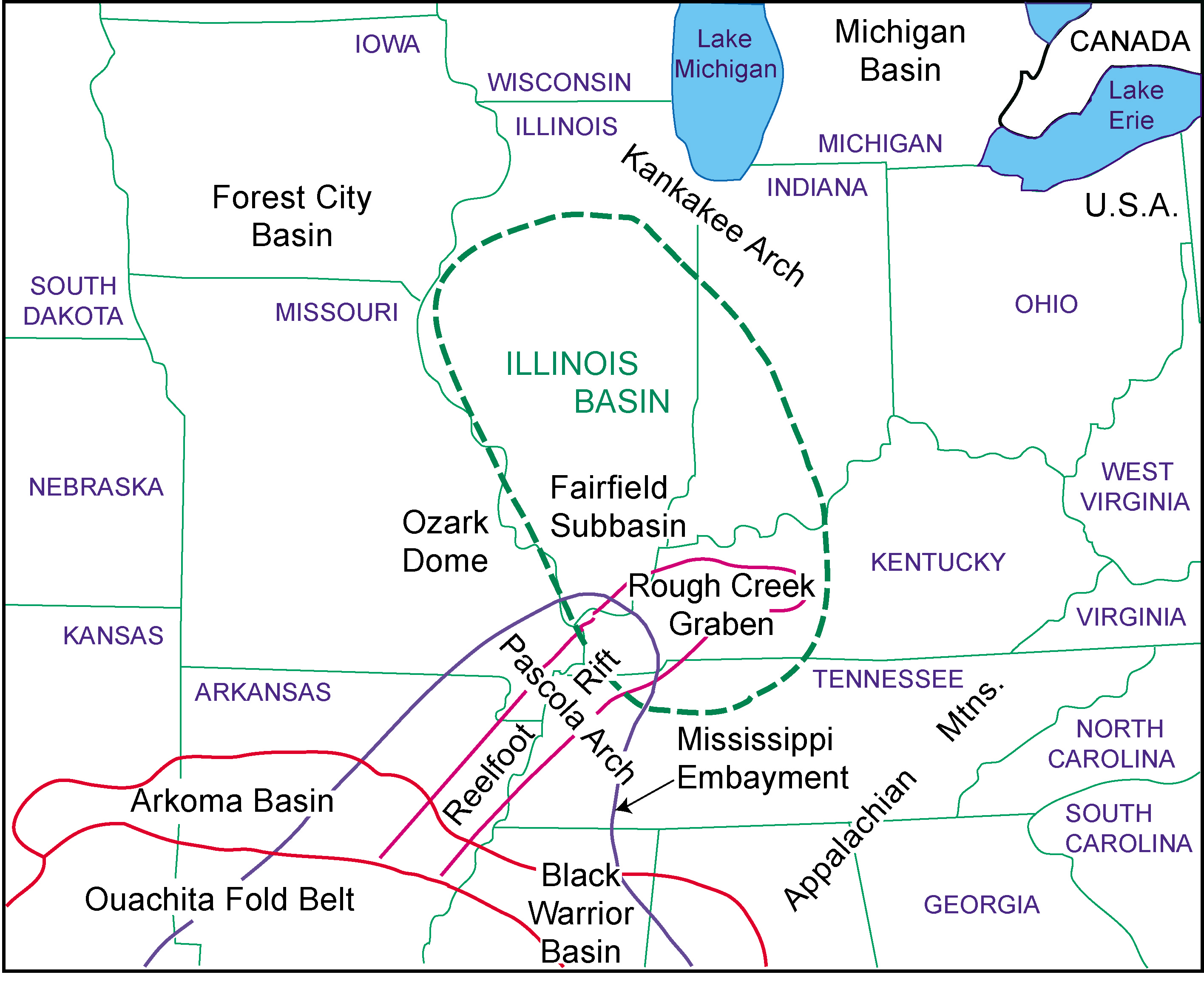 Eastern Us Fault Lines Map - Fault lines in georgia