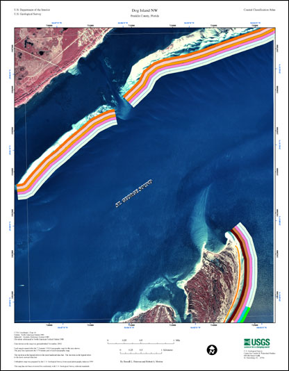 Dog Island Florida Map.Dog Island Nw Coastal Classification Atlas Eastern Panhandle Of