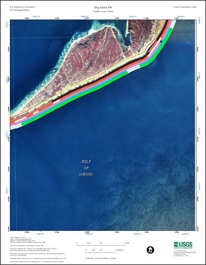 Dog Island Florida Map.Dog Island Sw Coastal Classification Atlas Eastern Panhandle Of