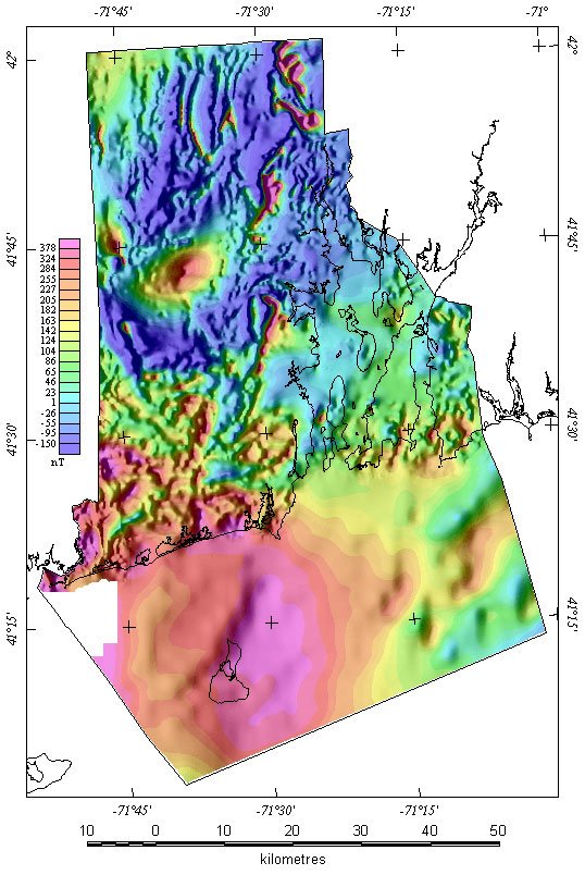 Rhode Island Magnetic Map - Map of ri