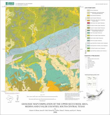 Of 2004 1430 Geologic Map Compilation Of The Upper Seco Creek Area