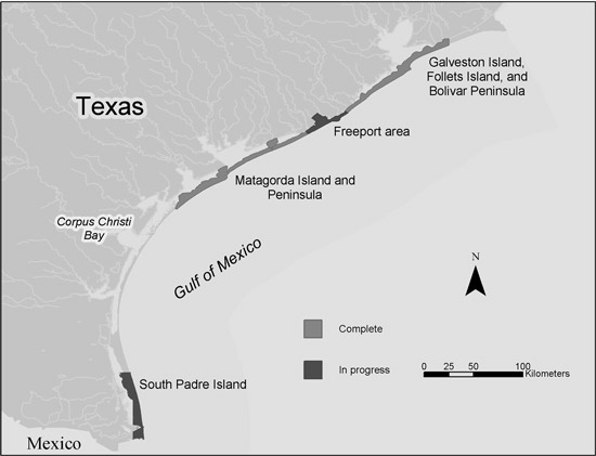 Map Of Texas Coastline.Usgs Ofr 2004 1451 Geoenvironmental Map Of The Christmas Point