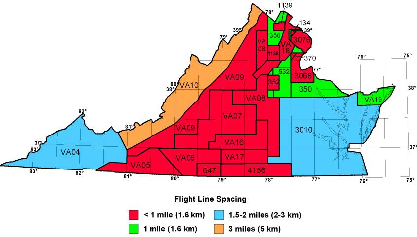 Topography Map Of Virginia.Virginia Aeromagnetic Data Index