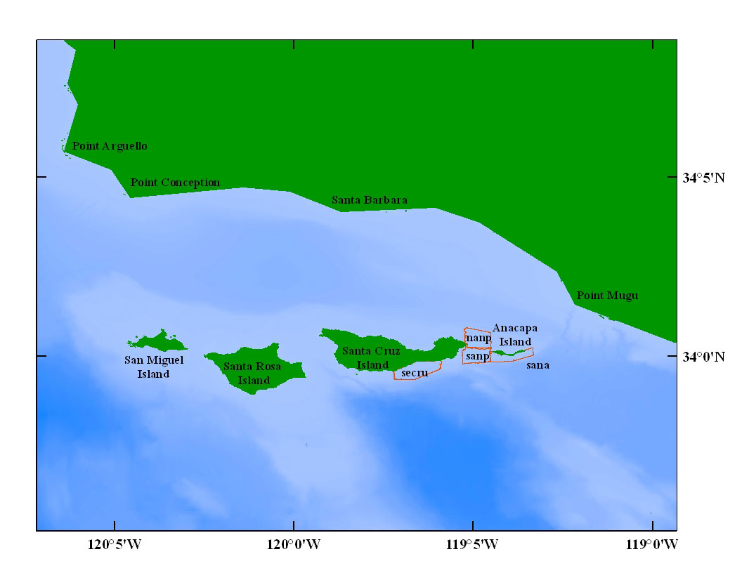 Nearshore Benthic Habitat GIS for the Channel Islands, Volume II - USGS WCMG
