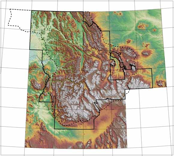 Spatial Databases for the Geology of the Northern Rocky Mountains
