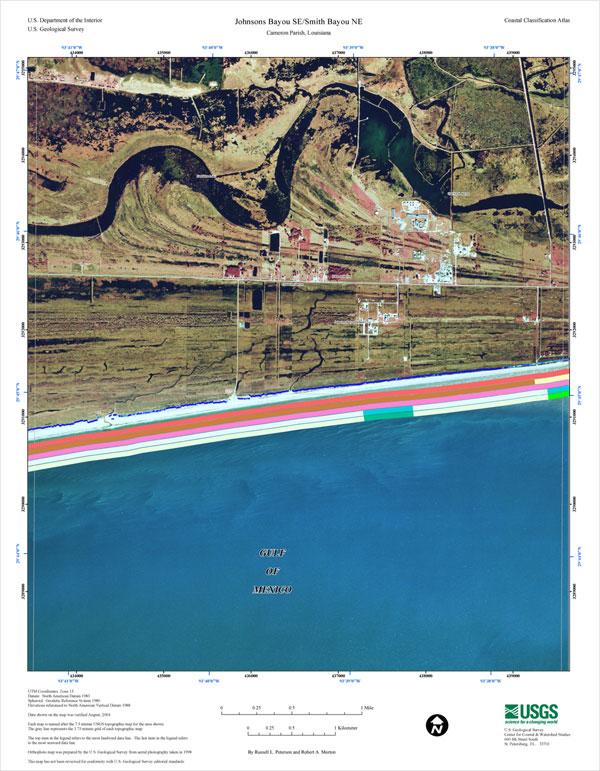 Coastal Classification Map For Johnsons Bayou SESmith Bayou NE - 8 1 2 x 11 us map