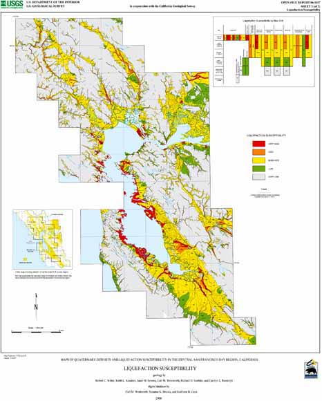 maps of quaternary deposits and liquefaction susceptibility in the central san francisco bay region california