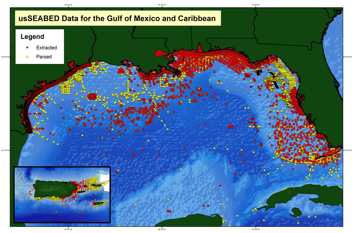 sediment data points along the gulf coast of the united states buczkowski and others