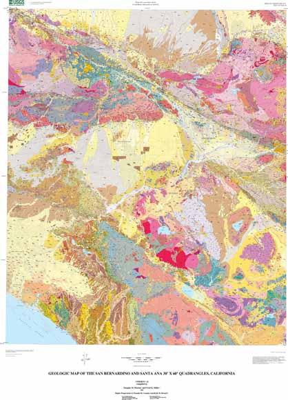 Geologic Map of the San Bernardino and Santa Ana 30' x 60 ... on