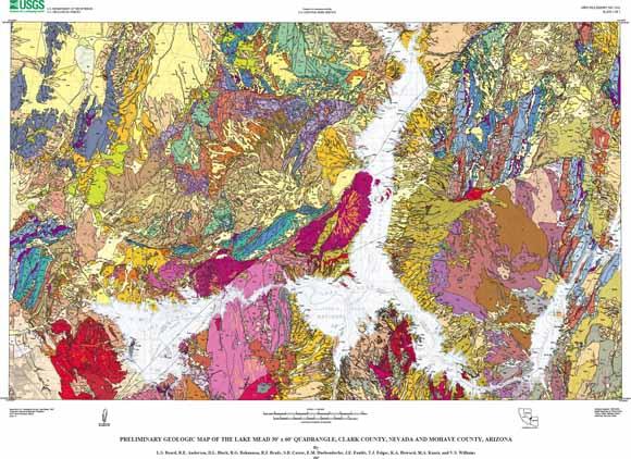 Worksheet. Preliminary Geologic Map of the Lake Mead 30 X 60 Quadrangle