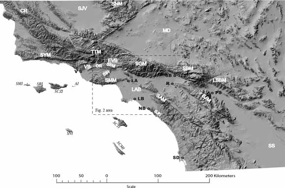 The Miocene Topanga Group of Southern California -- A 100-Year ... on la california map, geologic map, california disaster map, california drought 2013 map, california regions coloring page, california nature map, california love map, california safety map, south orange county california map, california chaparral biome map, california regions map, california palm trees art, california geographical map, political map, california painting map, california geology map, california food map, california snow depth map, washington topographic map, california mountains map,