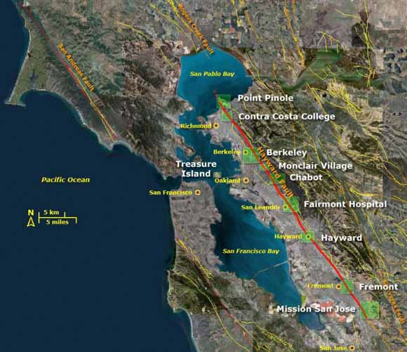 Wheres The Hayward Fault A Green Guide To The Fault - Hayward fault line map