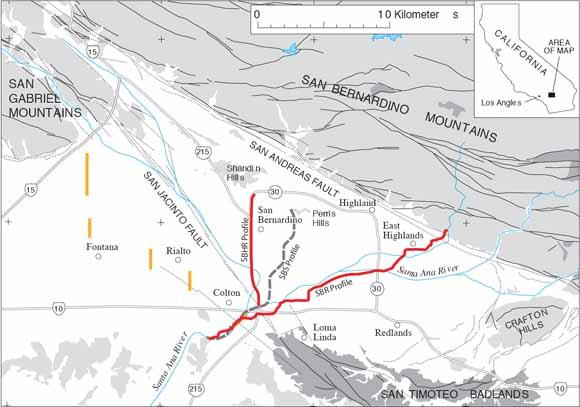 Structure of the San Bernardino Basin Along Two Seismic