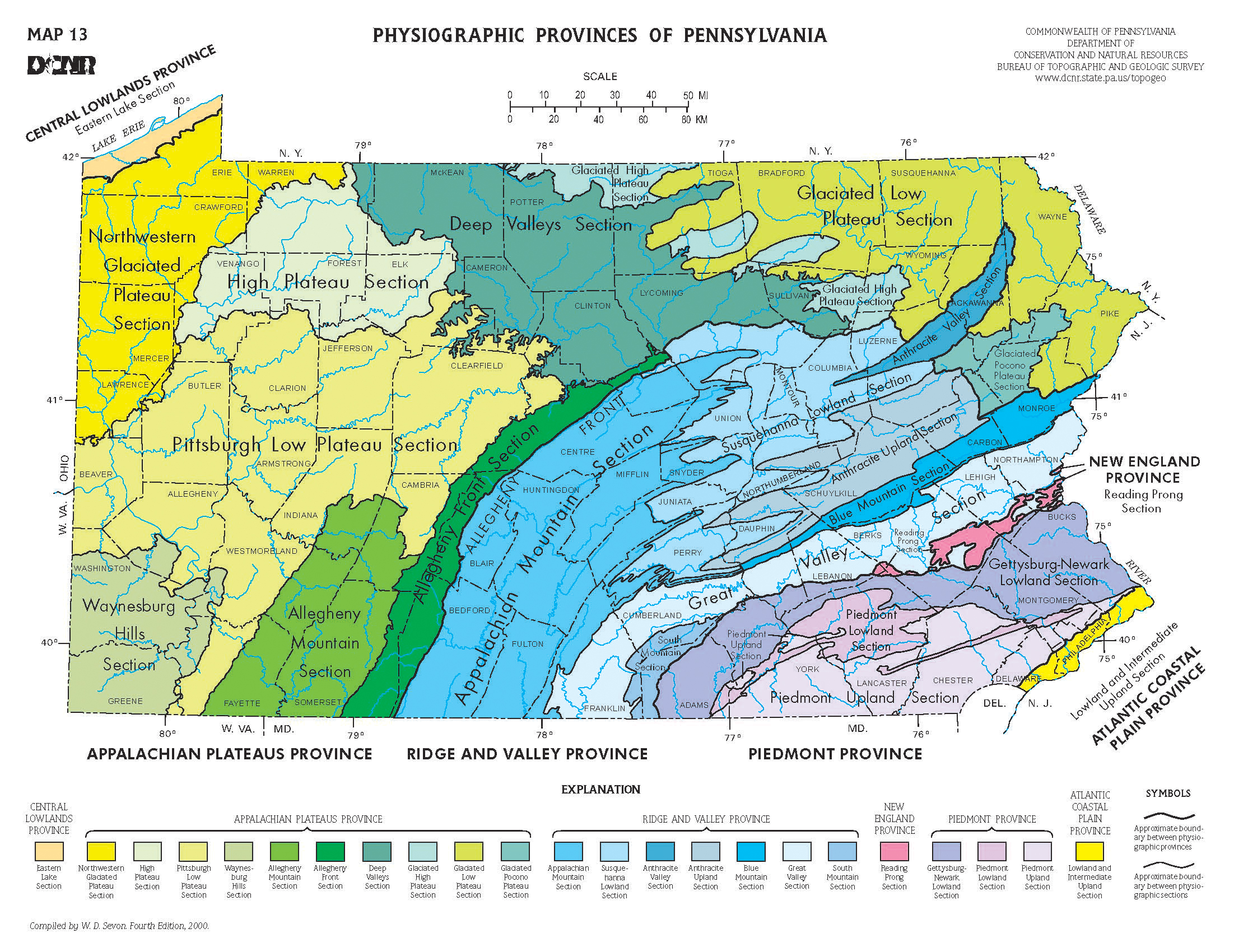 map showing physiographic provinces of pennsylvania the bluffs of lake erieare. usgs ofr  national assessment of historical shoreline