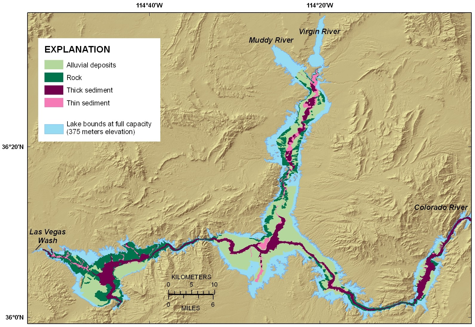USGS OFR 20091150 Surficial Geology of the Floor of Lake Mead
