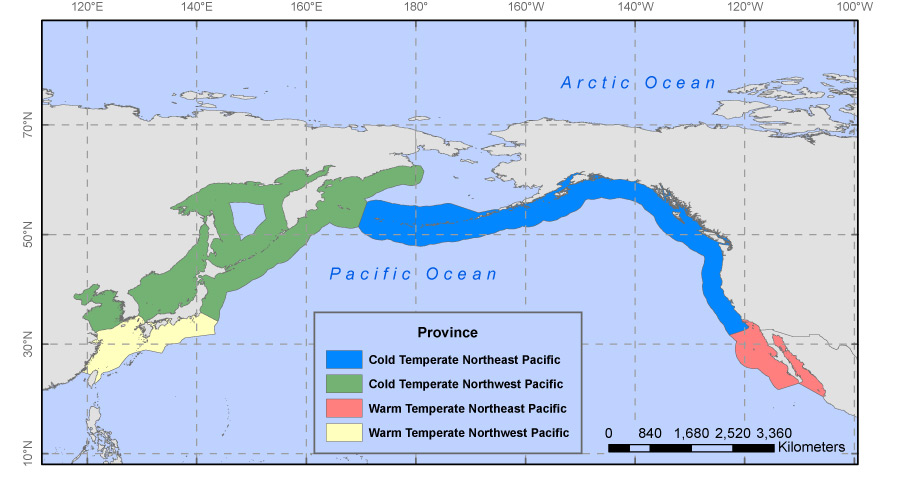 USGS OFR 2010-1251: Moderate-Resolution Sea Surface ... Pacific Ocean Underwater Map