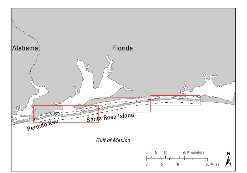 Santa Rosa Florida Map.Geomorphology And Depositional Subenvironments Of Gulf Islands