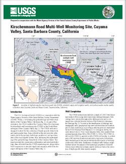 USGS Open-File 2011–1292: Kirschenmann Road Multi-Well Monitoring