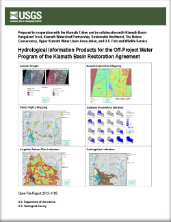 Usgs open file report 20121199 hydrological information products the klamath basin restoration agreement platinumwayz