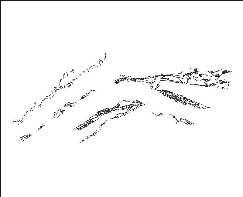 Woods Hole Coastal and Marine Science Center Swath interferometric bathymetry contours surrounding the nearshore of the Elizabeth Islands and sand shoals of Vineyard Sound, MA