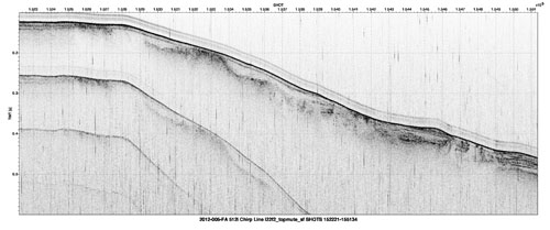 Thumbnail of a sample seismic-reflection profile.