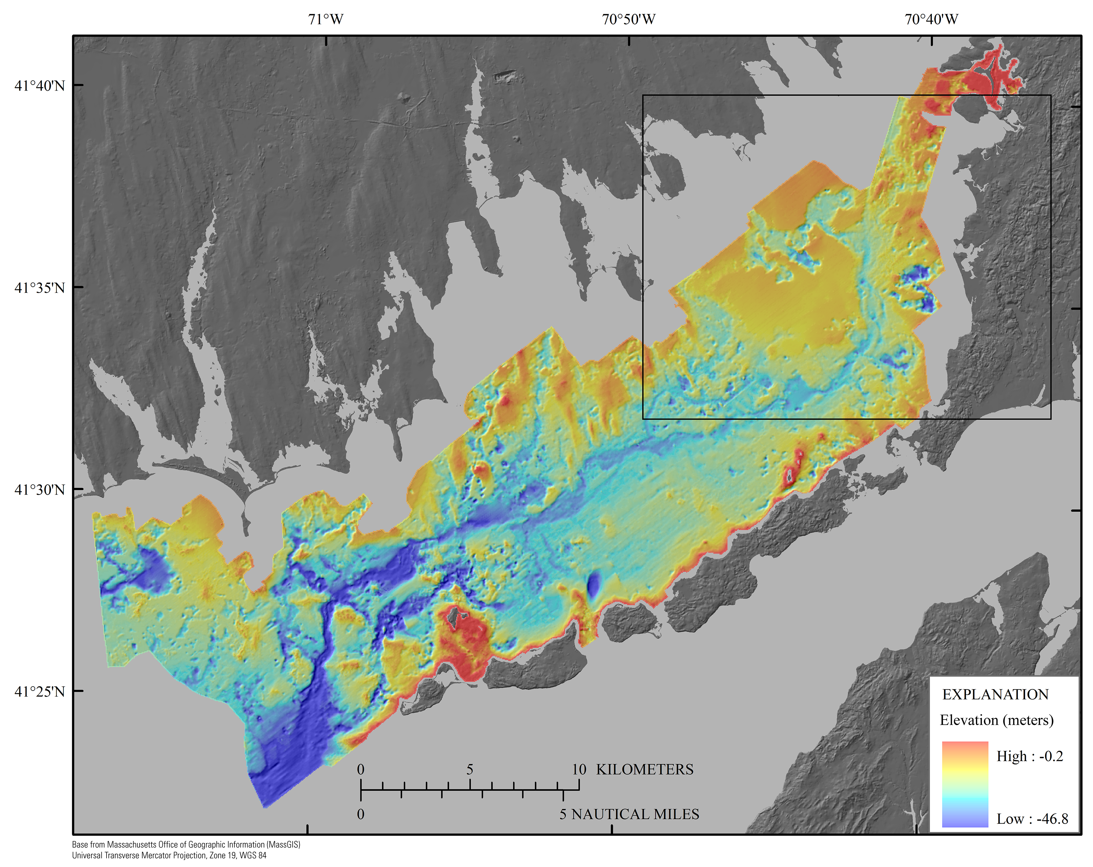Sea Floor Elevation Map : Shallow geology sea floor texture and physiographic