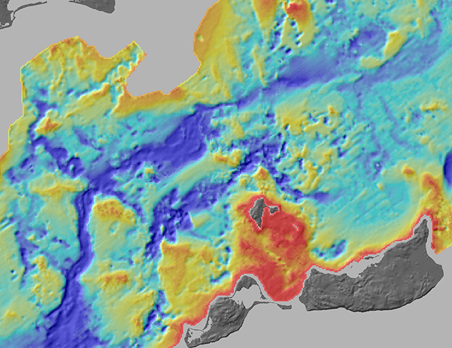 Sea Floor Elevation Map : Usgs open file report shallow geology sea