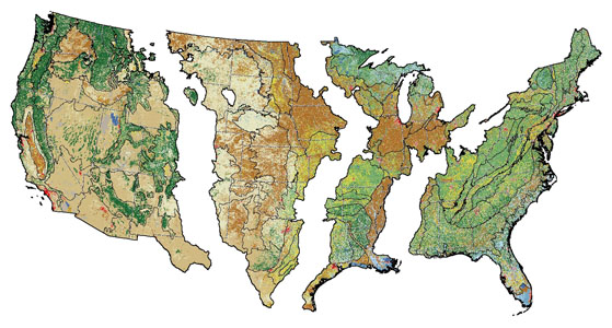 Status And Trends Of Land Change In The United States To - Maps of us over time
