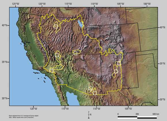 GroundWater Recharge In The Arid And Semiarid Southwestern United - Southwestern usa map