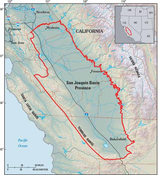 Petroleum Systems And Geologic Assessment Of Oil And Gas In The - Us Map San Joaquin Valley