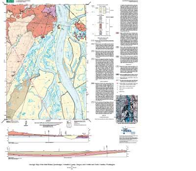 Geologic Map Of The Saint Helens Quadrangle Columbia County Oregon
