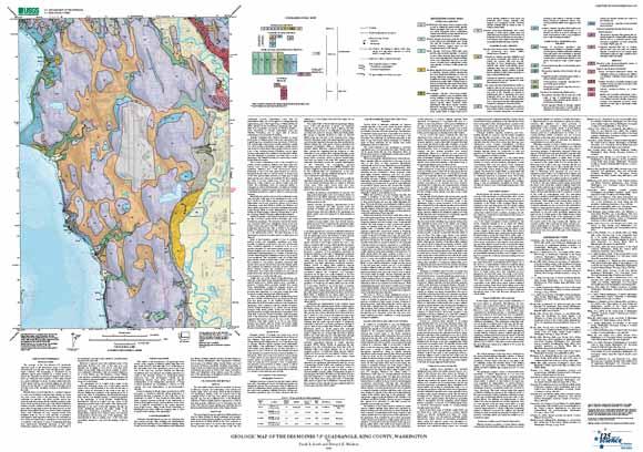 Geologic Map of the Des Moines 75 Quadrangle King County Washington