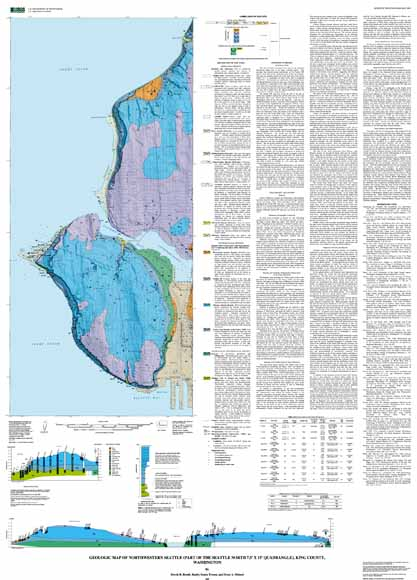 Geologic Map of Northwestern Seattle Part of the Seattle North