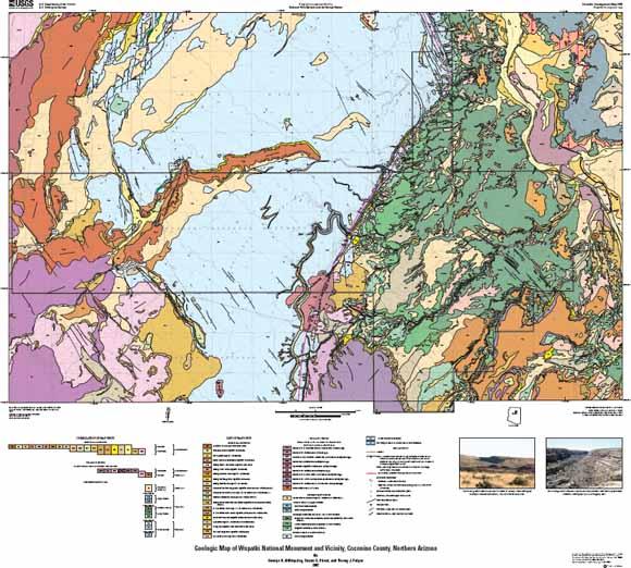 Geologic Map Of Wupatki National Monument And Vicinity