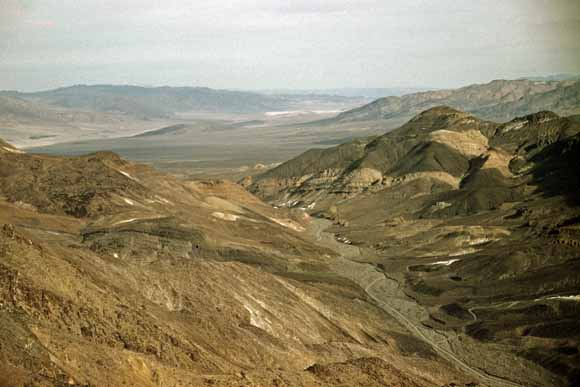 Photo Shows Lower Warm Spring Canyon Southern Panamint Range Death Valley National Park