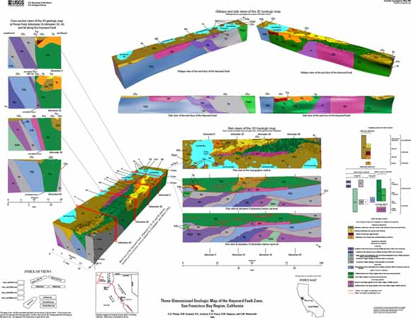 Three-Dimensional Geologic Map of the Hayward Fault Zone, San ...